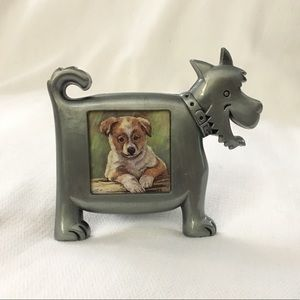 Dog Puppy Picture Photo Frame Pewter Metal Small